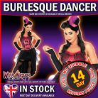 FANCY DRESS COSTUME # PINK BURLESQUE DANCER SM 8-10